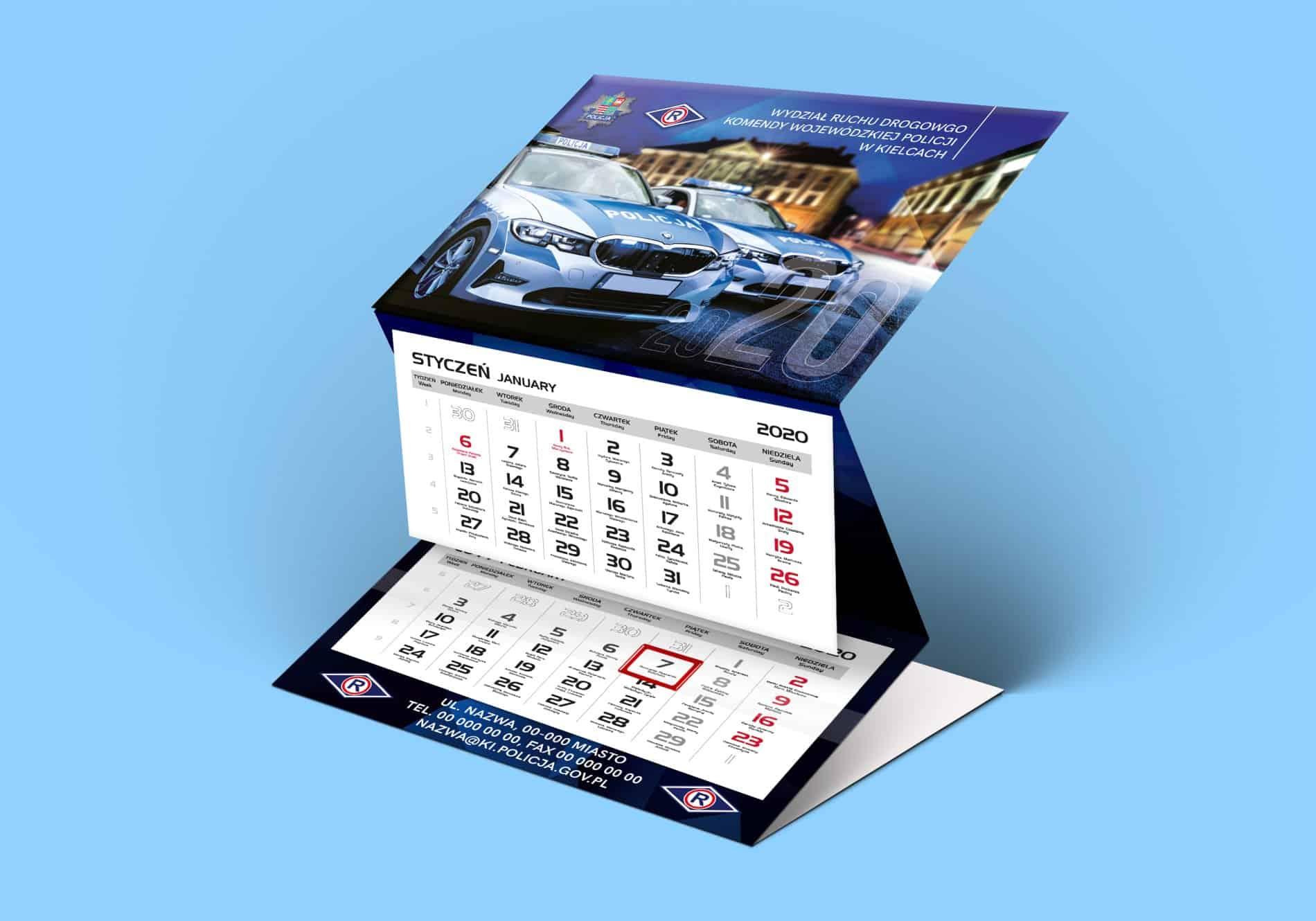 Kalendarze trójdzielne Kielce